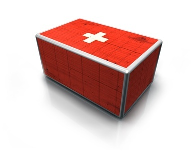 First aid red cross box 3d