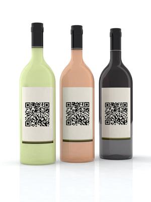 bottiglie vino etichetta codice qr